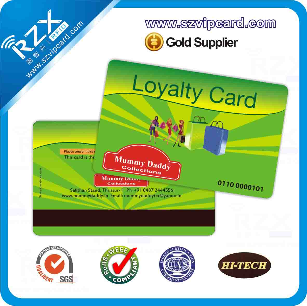 narrow magnetic stripe card